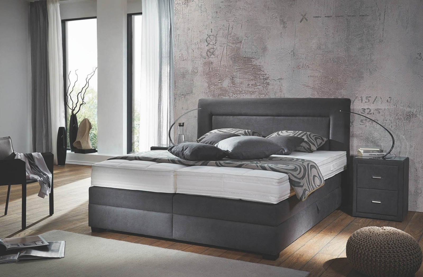 boxspringbett averi. Black Bedroom Furniture Sets. Home Design Ideas
